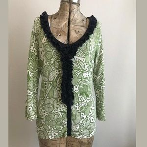 Anthropologie Tabitha Forest Whimsy Cardigan